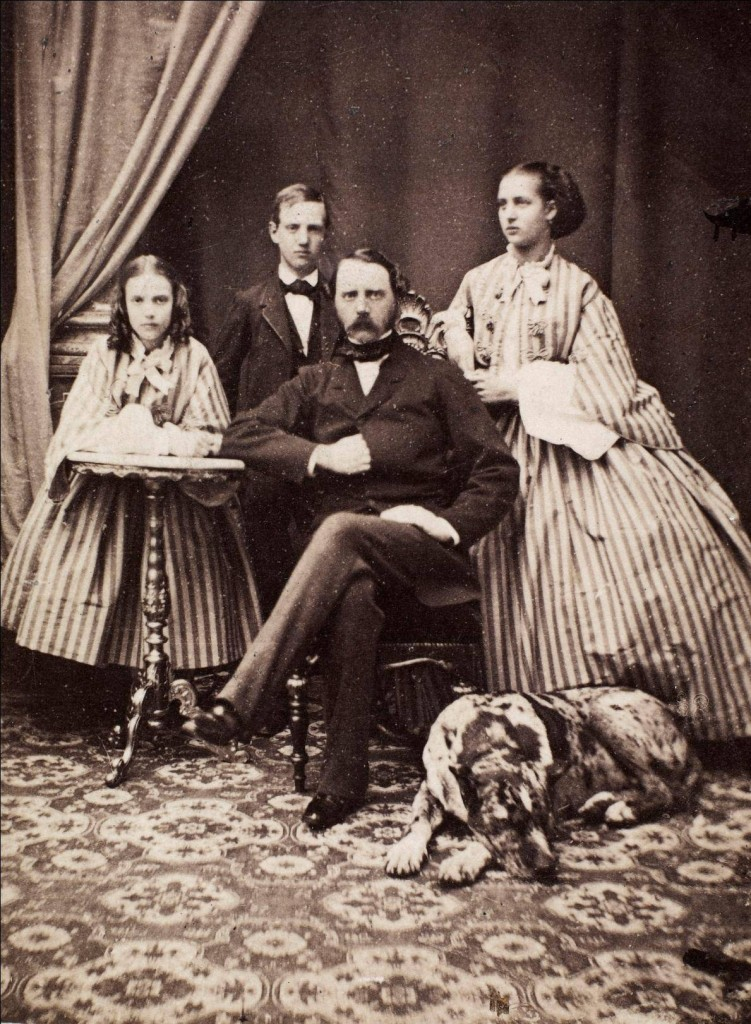 Princess Dagmar, Prince Vilhelm, Christian IX King of Denmark and Princess Alexandra. 1861